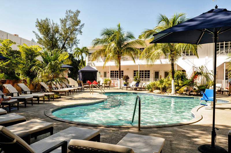 Tradewinds Apartment Hotel Swimming Pool Wide View